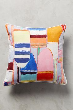 ONE Anthropologie Southport Pillow Emboridered Nautical Accent Throw Buoy Summer for sale online Pillow Room, Bed Pillows, Nautical Cushions, Decorative Cushions, Anthropologie Home, Pillow Inspiration, Embroidered Cushions, Textiles, Pillow Sale