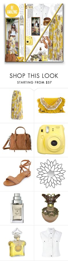 """CHIC STREET STYLE: With Yellow Maxi Skirt"" by polyvore-suzyq ❤ liked on Polyvore featuring PAM, Chicwish, Shashi, Lucky Brand, Fujifilm, Marion Parke, Safavieh, The Different Company, Guerlain and STELLA McCARTNEY"