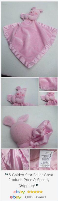 Pink Rabbit bunny lovey lovie security blanket 11x11 inches