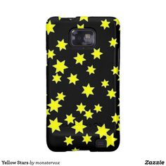 Yellow Stars Galaxy SII Case #Yellow #Star #Astronomy #Space #Mobile #Phone #Cover #Case #Samsung