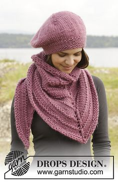 Ravelry: 156-49 Winter Blush Shawl pattern by DROPS design
