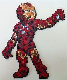 Iron Man hama perler beads by Sonja Ahacarne
