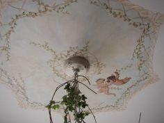 cherub painted on ceiling