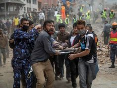 """Kathmandu Struck By Powerful Earthquake"" At least 1400 are dead and at least 10 are dead in an avalanche on Mt. Everest. Please pray."