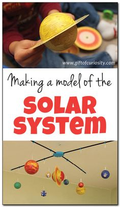Making a model of the solar system is a great way to use both art and science to teach kids about about the planets and solar system || Gift of Curiosity