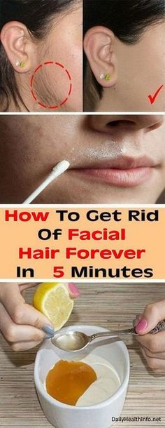 Remove Facial Hair Once and For All With This Natural Remedy in 5 Minutes.