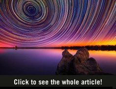 Amazing pictures of the starred sky with 15 hours exposure.