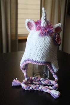 Unicorn hat pattern on etsy