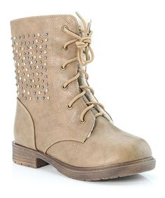 Another great find on #zulily! Khaki Studded Boot by Anna Shoes #zulilyfinds