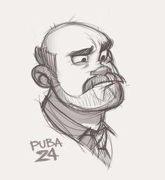 Puba²⁴ - Jardin Tutorial and Ideas Cartoon Sketches, Cartoon Art Styles, Cartoon Design, Art Drawings Sketches, Cool Drawings, Art Illustrations, Character Sketches, Character Drawing, Animation Character