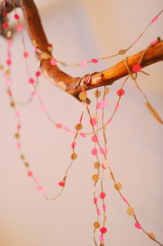 DIY seating chart garland