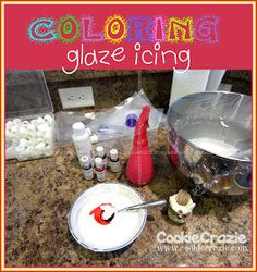 Cookie Crazie Basics: Coloring Glaze Icing