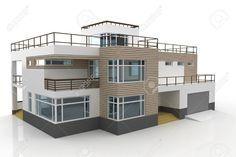 3d house generischen gerendert auf weißem Hintergrund