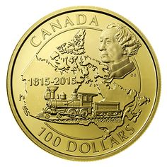 Gold Coin - Anniversary of the Birth of Sir John A. Bullion Coins, Gold Bullion, Canadian Gold Coins, Valuable Coins, Gold And Silver Coins, Mint Coins, Canadian History, Commemorative Coins, Rare Coins