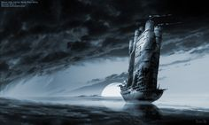 surreal river | Neo Surrealism Art.com Ghost ship series: River Styx ferry: surreal ...