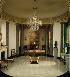 Miniature English Rotunda and Library of the Regency Period, 1810-20