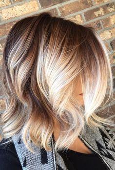 Balayage Blonde Short Hair (fall blonde short)