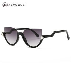 AEVOGUE Sunglasses Women 2016 Newest  Semi-Rimless Frame Z-Shaped Temple Metal…
