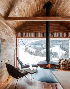Rustic-modern mountain living. SOUTH TYROL Converted alpine farmhouse by Othmar Prenner in South Tyrol, Italy. Photo by Christian Schaulin. (at South Tyrol)