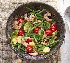 Recepten: Thaise garnalen met ananas en boontjes