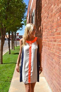 Courtney & Confetti | Neon Orange Lines