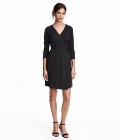 Omlottklänning | Svart | Ladies | H&M SE