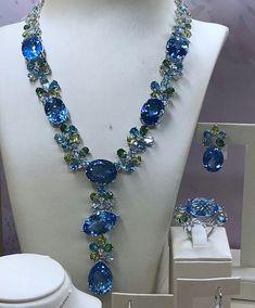 Fabulous #laposy #collection #necklace #bracelet #earrings #ring #topaz #bluetopaz #jewellery #hautejoaillerie