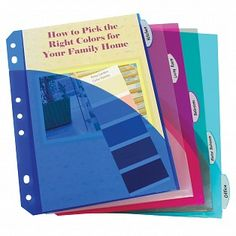 Smaller size with large organizational benefits. Tabbed index dividers organize your binder instantly. Made from durable heavyweight polypropylene. Includes double sided easy load slant pockets to allow for extra storage of documents and media. Mochila Adidas, Binder Dividers, Tool Organization, Day Planners, Colorful Garden, Hole Punch, Credit Card Offers, School Supplies, Office Supplies