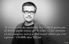 #CharlieHebdo Message de #Charb de son vivant. Une leçon de courage