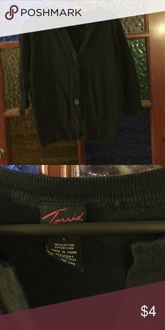 Black cardigan Black cardigan. It is very slightly faded but not too much. Torrid size 1 torrid Sweaters Cardigans