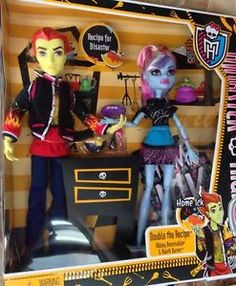 Monster High Partners Home Ick Abbey Bominable and Heath Burns New Dolls Two | eBay
