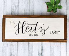 Personalized Familiy Name Established Sign, Custom Family Wooden ...