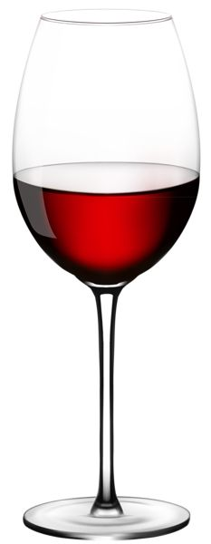 Wine Glass PNG Vector Clipart