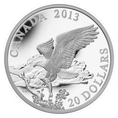 Royal Canadian Mint $20 2013 Fine Silver Coin - The Bald Eagle: Returning from the Hunt $99.95