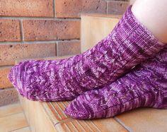 Hand Knitted Socks wool socks women's socks by LemonMyrtleKnit