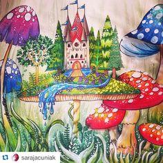 floresta encantada dragão colorido - Pesquisa Google