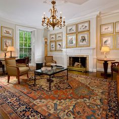 Traditional Living Room by Landry & Arcari Rugs and Carpeting