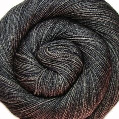 sw bfl silk yarn BATTLESHIP hand dyed by lanitiumexmachina on Etsy