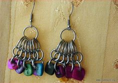 Jewel Tone Cluster Earrings | AllFreeJewelryMaking.com