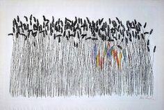 "Ben Shahn, ""Wheat field"", 1958"