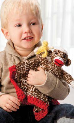 Crochet Patterns - Crochet! Magazine Sock Monket cuddle blanket ....sweet!