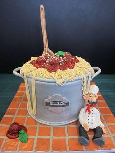Spaghetti cake mamma Mia (: