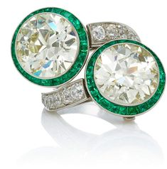 Munnu The Gem Palace One-Of-A-Kind Double Diamond Ring/Earrings With Emeralds. Emerald Jewelry. I'm an affiliate marketer. When you click on a link or buy from the retailer, I earn a commission.