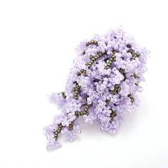 A Cluster of Lilac Ring / Swarovski Crystals / by MariYunJewelry