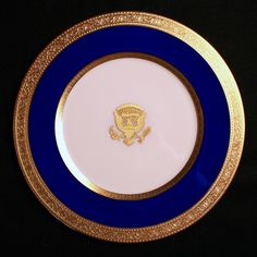In 1918 resident Woodrow Wilson, 28th President of the United States and First Lady Edith Galt Wilson ordered new White House china.  For the first time, the White House had its china manufactured in The United States (Lenox of Trenton, New Jersey). Additional Wilson Pieces have been reordered by Warren G. Harding, Calvin Coolidge, Herbert Hoover, and William Jefferson Clinton.