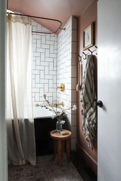 Likes, 50 Comments - Jenni Yolo Loft Bathroom, Upstairs Bathrooms, Master Bathroom, I Spy Diy, The Tile Shop, Chair Makeover, White Tiles, Color Tile, Dining Table Chairs