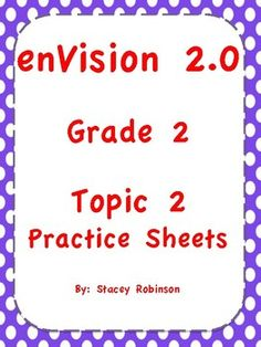 Envision math 20 topic 4 lesson plan envision math 20 envision math 20 topic 2 grade 2 practice sheets fandeluxe Images