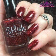 14 Day's of Valentine's Day: Day 7 Pahlish Too Moon Sunset 14 Days 14 pink polishes 14 red polishes indie polish nail polish swatches Pahlish pink polish red polish swatches Two Moon Sunset valentines day polish