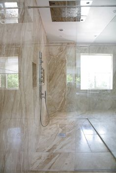 Marble Wet Room Shower & Bathroom | Potts