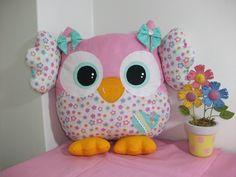 #almofadacoruja Almofadinha coruja 30cm- Owl pillow www.facebook.com/little.things.vc